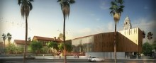 Architectural Rendering of the Wallis Annenberg Center for the Performing Arts
